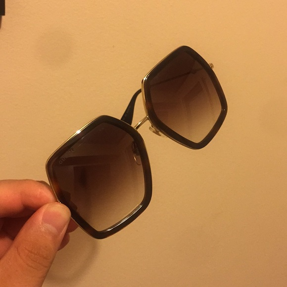 2c54cb2e707 Gucci Accessories - Gucci Oversize square frame metal Sunglasses